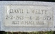 "David Leroy ""Dave"" Welty"