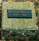 "Profile photo:  Mary ""Polly"" <I>Worsham</I> McCary"