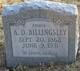 "Profile photo:  Abner Davidson ""A. D."" Billingsley"
