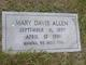 Mary <I>Davis</I> Allen