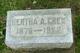 Profile photo:  Bertha A. Crew