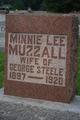 Minnie Lee <I>Muzzall</I> Steele