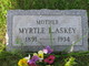 Profile photo:  Myrtle L. <I>Shaffer</I> Askey