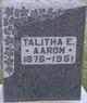 Profile photo:  Talitha <I>Elder</I> Aaron