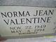 Norma Jean Valentine