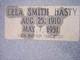 Lela <I>Smith</I> Hasty