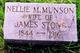 Nellie Maria <I>Munson</I> Stone