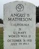 Angus B Matheson