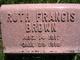 Ruth Frances Brown