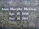 Profile photo:  Alan Murphy McGhie