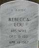 Rebecca Lou <I>Blythe</I> Wilson