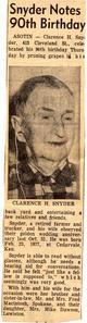 Clarence Hoten Snyder