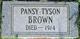 Pansy <I>Tyson</I> Brown