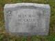 Profile photo:  Alta Mae <I>Miller</I> McCallie