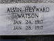 Profile photo:  Alvin Heyward Watson