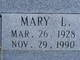 "Mary Lucy ""Lucy"" <I>Colvin</I> Bennett"