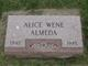 Profile photo:  Alice <I>Wene</I> Almeda
