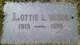 Lottie Louise <I>Bouchard</I> Vatne