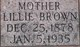 "Lillian ""Lillie"" <I>Dean</I> Brown"