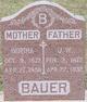 Profile photo:  Bertha <I>Flint</I> Bauer