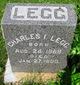 Charles I Legg