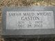 Sarah Maud <I>Wright</I> Gaston