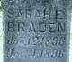 Sarah E Braden