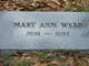 Mary Ann Webb