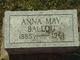 Profile photo:  Anna May <I>Clute</I> Ballou
