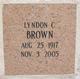 Lyndon C Brown