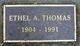 Ethel A Thomas