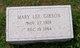 Mary Lee <I>McKean</I> Gibson