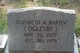 "Profile photo:  Elizabeth Mahala ""Lizzie"" <I>Oglesby</I> Martin"