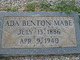 "Profile photo:  Ada ""Annie"" <I>Benton</I> Mabe"