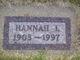 """Johanna Isabelle """"Hanna"""" <I>Hallgren</I> Howe"""