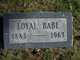 "Loyal Starr ""Babe"" Arthur"