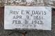 Rev Elias Walker Davis, Jr