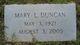 Mary Evelyn <I>Ladson</I> Duncan