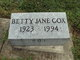 Profile photo:  Betty Jane Cox