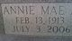 Annie Mae <I>Axson</I> Hoffman