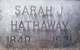 Sarah J. <I>Mulholland</I> Hathaway