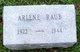 Arlene <I>Fowler</I> Raub