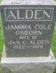Jamima Cole <I>Osborn</I> Alden