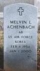 "Melvin L ""Mudge"" Achenbach"