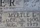 Profile photo:  Myrtle Irene <I>Puryear</I> Crider