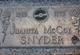 Profile photo:  Juanita <I>McCoy</I> Snyder
