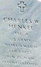 Charles W Henkel