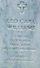 "Leo Carl ""Bud"" Williams"