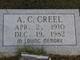 Profile photo:  A. C. Creel