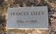 """Juluis Frances """"Fannie"""" <I>Weathers</I> Lyles"""